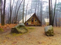 4 season - wood stove - glamping tent - but you gotta hike in 4K in the winter